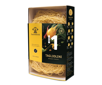 Яєчні макарони Зерновита №1 Тальоліні, 250 гр