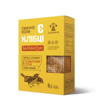 Хлібці «Балканські» зі шматочками перцю, 200 гр