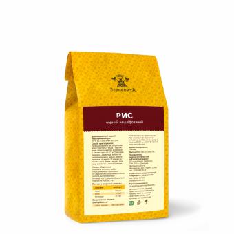 Рис чорний нешліфований довгозернистий, 500 гр